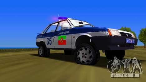 VAZ 21099 milícia para GTA Vice City vista direita