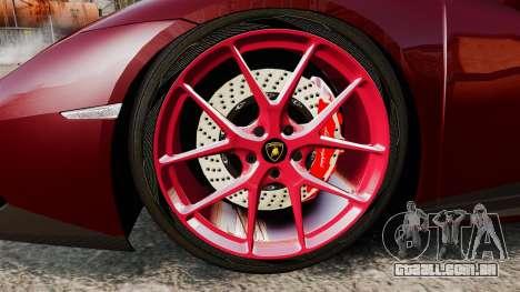 Lamborghini Huracan 2014 Oakley Tuning para GTA 4 vista de volta