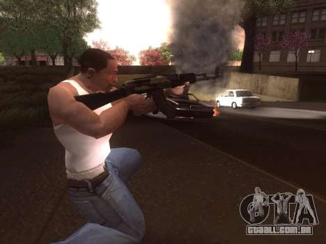 AK-103 para GTA San Andreas quinto tela