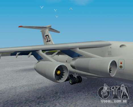Il-76TD Aviacon zitotrans para GTA San Andreas vista direita