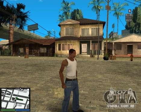 GTA V hud para GTA San Andreas segunda tela