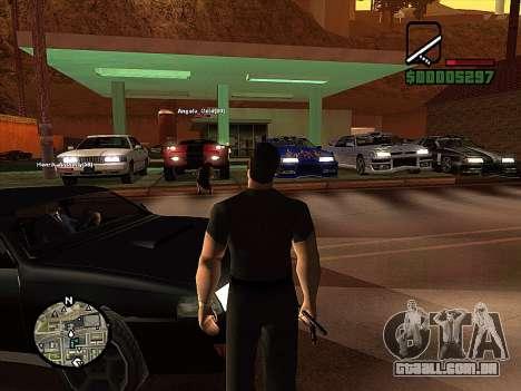 SA-MP 0.3z para GTA San Andreas quinto tela