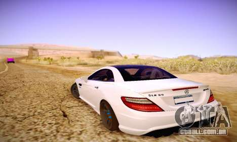 Mercedes Benz SLK55 AMG 2011 para GTA San Andreas vista inferior