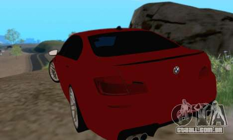 BMW M5 F10 v1.1 para GTA San Andreas vista direita