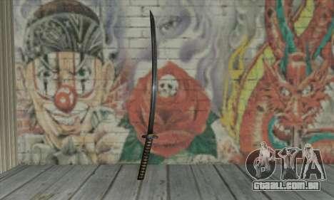 Samurai katana para GTA San Andreas segunda tela