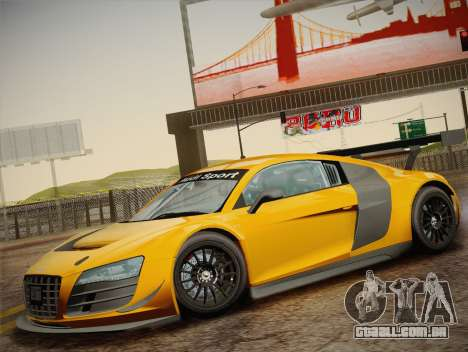 Audi R8 LMS Ultra W-Racing Team Vinyls para GTA San Andreas vista superior