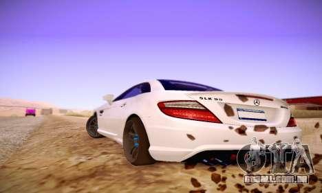 Mercedes Benz SLK55 AMG 2011 para GTA San Andreas vista direita