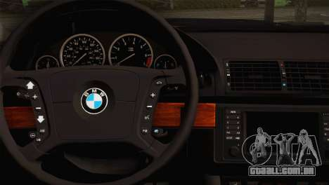 BMW M5 E39 para GTA San Andreas vista traseira