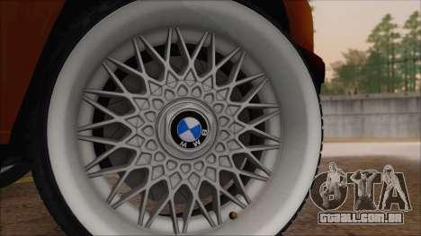 BMW M5 E30 para GTA San Andreas traseira esquerda vista