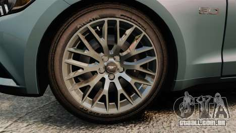 Ford Mustang GT 2015 v2.0 para GTA 4 vista de volta