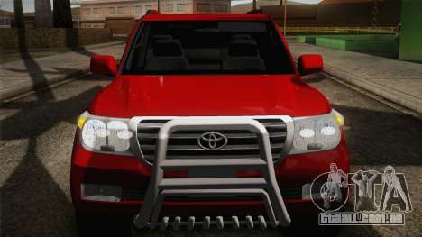 Toyota Land Cruiser 200 para GTA San Andreas vista superior