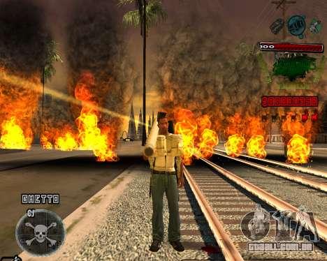 C-HUD Grove St para GTA San Andreas segunda tela