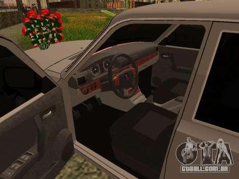 GAZ 31105 Volga para GTA San Andreas vista traseira