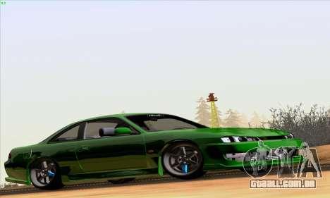 Nissan Silvia S14 Stance para GTA San Andreas traseira esquerda vista