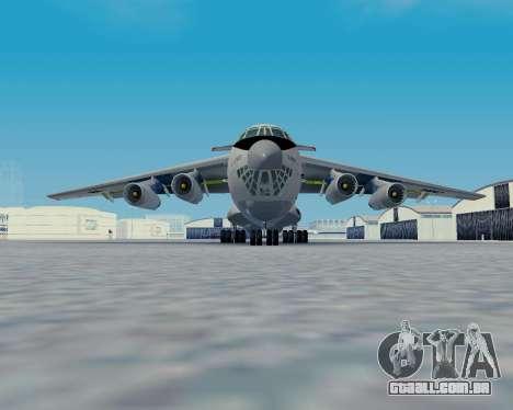 Il-76TD Aviacon zitotrans para GTA San Andreas traseira esquerda vista