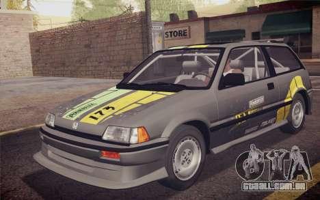 Honda Civic S 1986 IVF para o motor de GTA San Andreas