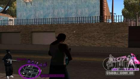 C-HUD Ballas by HARDy para GTA San Andreas segunda tela