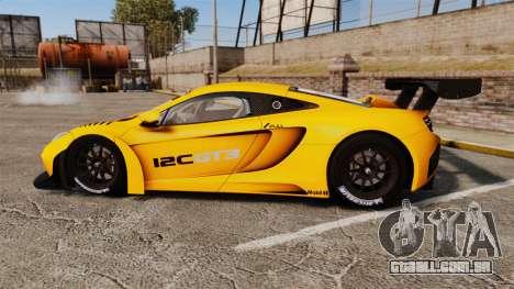 McLaren MP4-12C GT3 (Updated) para GTA 4 esquerda vista