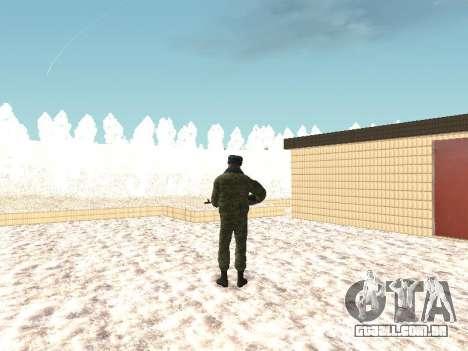 Militar no inverno uniforme para GTA San Andreas terceira tela