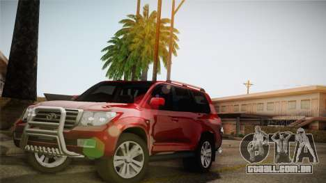 Toyota Land Cruiser 200 para vista lateral GTA San Andreas
