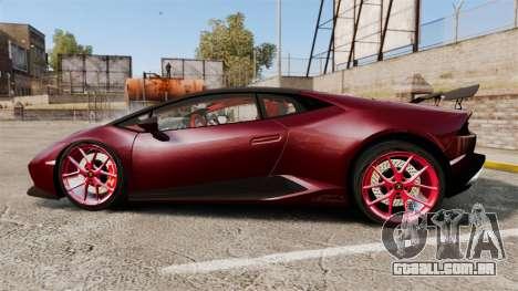 Lamborghini Huracan 2014 Oakley Tuning para GTA 4 esquerda vista