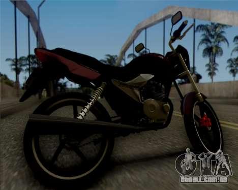 Honda Titan para GTA San Andreas traseira esquerda vista