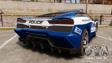 GTA V Pagassi Vacca Police para GTA 4 traseira esquerda vista