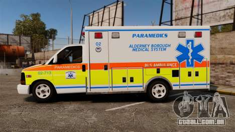 GMC Savana 2005 Ambulance [ELS] para GTA 4 esquerda vista
