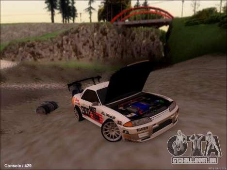 Nissan Skyline GTR R32 para GTA San Andreas vista traseira