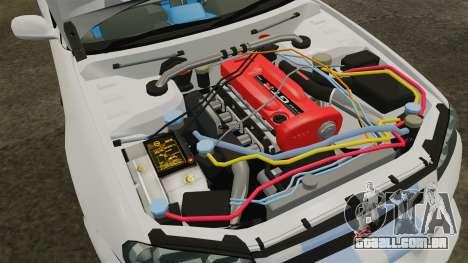 Nissan Skyline GT-R R34 V-Spec 1999 para GTA 4 vista de volta