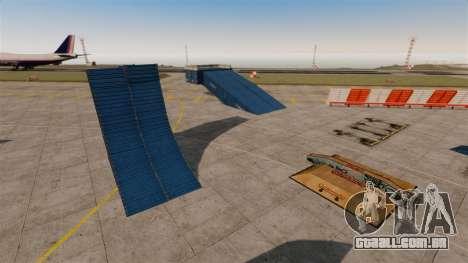 Truque-o estacionamento no aeroporto para GTA 4 terceira tela