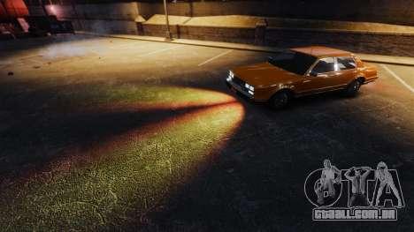 A luz ardente de faróis para GTA 4