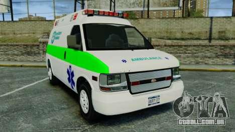 Vapid Speedo Rural Metro EMS [ELS] para GTA 4