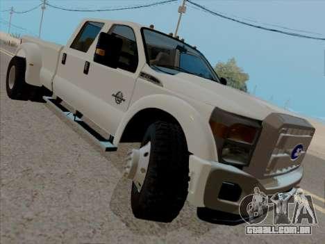 Ford F450 Super Duty 2013 para GTA San Andreas esquerda vista