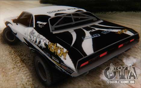 Dodge Challenger 1971 Aftermix para GTA San Andreas vista interior