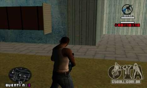 C-HUD Quentin para GTA San Andreas segunda tela