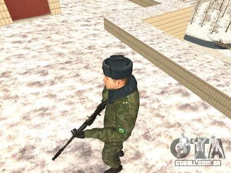 Militar no inverno uniforme para GTA San Andreas segunda tela