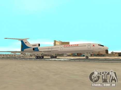 Tu-154 B-2 SCC da Rússia para GTA San Andreas vista interior