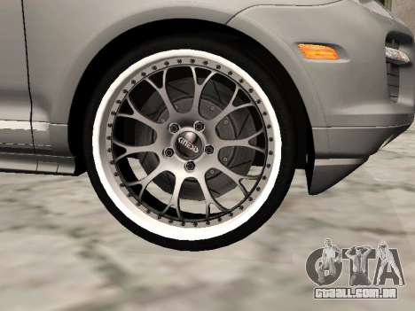 Porsche Cayenne Turbo S para GTA San Andreas vista direita