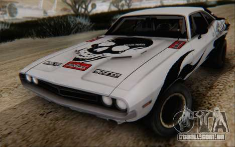 Dodge Challenger 1971 Aftermix para GTA San Andreas vista traseira