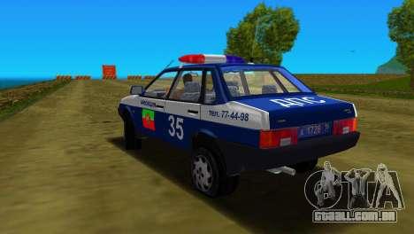 VAZ 21099 milícia para GTA Vice City vista superior