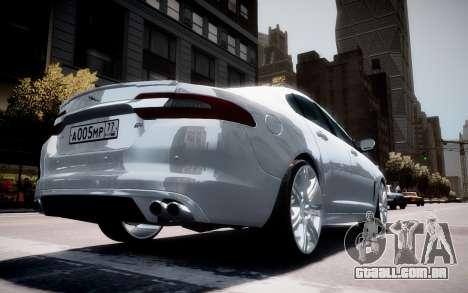 Jaguar XF-R 2012 v1.2 para GTA 4 rodas