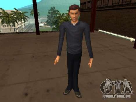 Peter Parker do jogo Spider-Man 2 para GTA San Andreas por diante tela