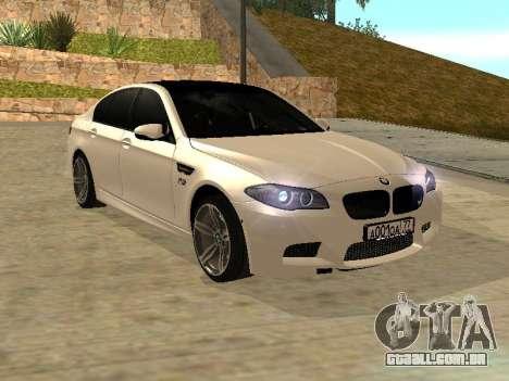 BMW M5 F10 V2.0 para GTA San Andreas vista direita