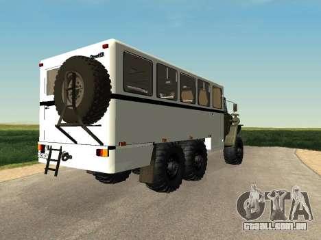 Ural 32551-0011 Assistir para GTA San Andreas esquerda vista