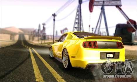 Ford Mustang GT 2013 v2 para GTA San Andreas traseira esquerda vista