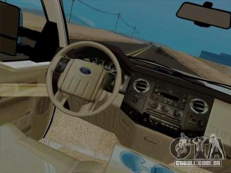 Ford F450 Super Duty 2013 para GTA San Andreas vista traseira