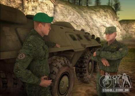 O exército russo moderno para GTA San Andreas segunda tela
