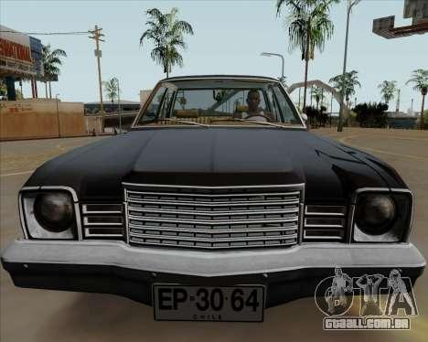 Dodge Aspen para GTA San Andreas traseira esquerda vista