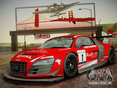 Audi R8 LMS Ultra W-Racing Team Vinyls para GTA San Andreas vista traseira